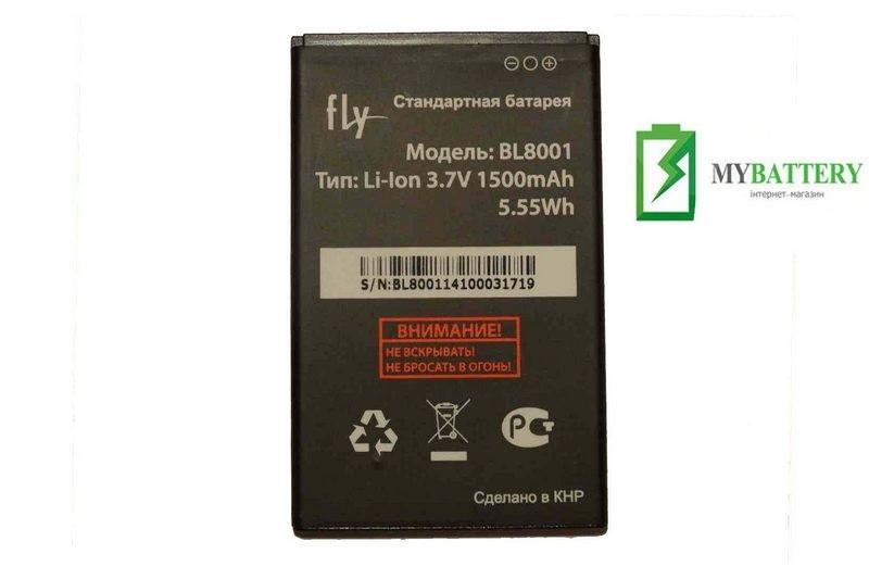 Оригинальный аккумулятор АКБ батарея Fly BL8001 для Fly IQ436   IQ436i Era Nano 9   IQ4490