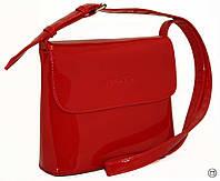 Женская кожаная лаковая сумка клатч планшет