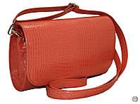 Женская кожаная сумка клатч каркасный лаковый