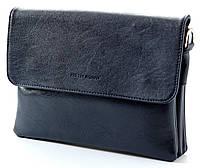 Женская кожаная сумка клатч планшет Pretty Women Цвет синий Отличное качество