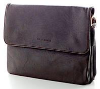 Женская кожаная сумка клатч планшет Pretty Women Коричневая Отличное качество
