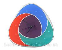 Дизайнерские часы из стекла в корпоративном стиле, фото 1