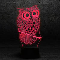 "3D Ночник , Светильник, LED лампа - ""Сова"""