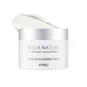 Легкий увлажняющий крем с осветляющим эффектом A'PIEU AQUA NATURE WHITE UP CLOUDING CREAM