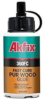 Полиуретановый (МОРСКОЙ) Akfix 360 FC D4 клей для дерева быстрой фиксации 150гр., фото 2