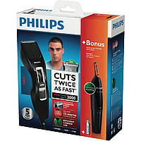 Машинка для стрижки волос Philips series 3000+триммер S1000, фото 1