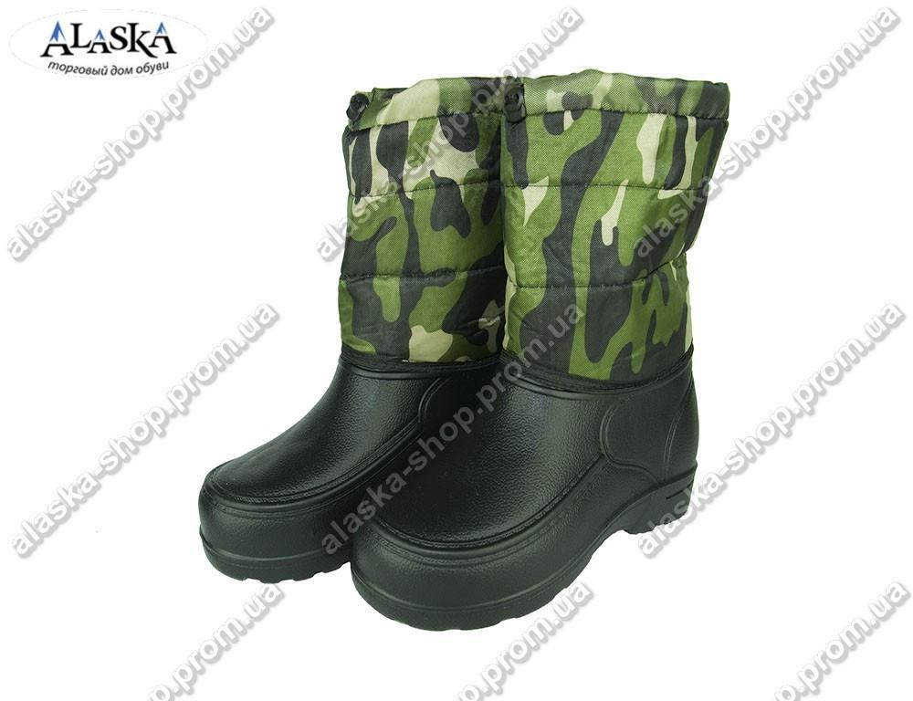 Мужские сапоги (Код:TS камуфляж шнурок)
