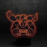 """3D Ночник , Светильник, LED лампа - """"Супермэн"""""""