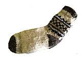 Носки вязаные из овечьей шерсти с узором, фото 2