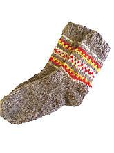 Носки вязаные из овечьей шерсти с узором
