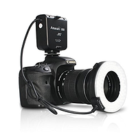 Кольцевая вспышка Aputure HC100 CRI 95 + Amaran Halo LED Macro Ring Flash light для фотоаппаратов Canon , фото 1