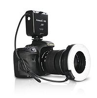 Кольцевая вспышка Aputure HC100 CRI 95 + Amaran Halo LED Macro Ring Flash light для фотоаппаратов Canon