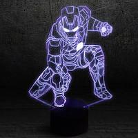 """3D Ночник , Светильник, LED лампа - """"Железный человек"""""""