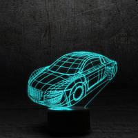 """3D Ночник , Светильник, LED лампа - """"Автомобиль"""""""