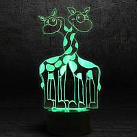 "3D Ночник , Светильник, LED лампа - ""Жирафики"""