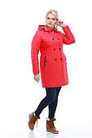 Пальто-куртка длинная женская демисезонная размеры 44-56