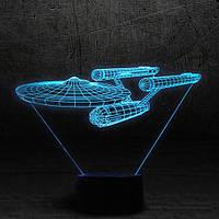 "3D Ночник , Светильник, LED лампа - ""Энтерпрайз"""