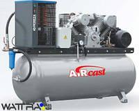 Компрессор Aircast СБ4/Ф-500.LT100 с горизонтальным ресивером (Remeza) и осушителем воздуха холодильного типа
