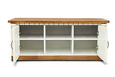 Тумба под ТВ Фридом/Freedom слоновая кость/орех патина золота (Микс-мебель ТМ), фото 2