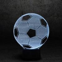 """3D Ночник , Светильник, LED лампа - """"Футбольный мяч"""""""