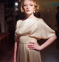 Кремовое свадебное платье,  винтажное