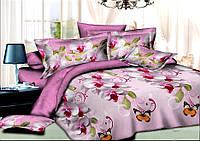 Комплект постельного белья полуторный, ранфорс 100% хлопок. Постільна білизна. (арт.8048)