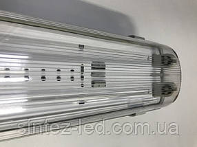 Линейный светильник под светодиодные лампы SL-40 2х20W Т8 IP65 Код.59042
