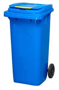 Бак для мусора пластиковый 240л. Синий