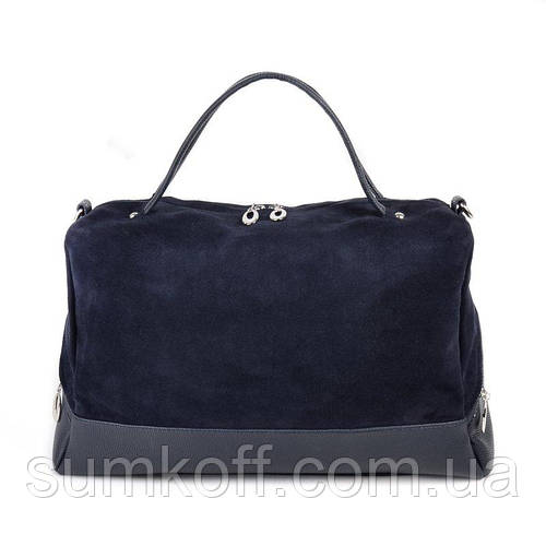 306cb0222fe6 Замшевая синяя сумка М113-39/замш комбинированная большая на плечо:  продажа, цена в Днепре. женские сумочки и клатчи от