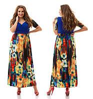 Женское модное платье в пол больших размеров 885 (р. 48-62)