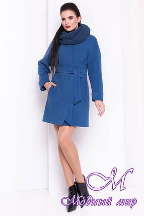 Женское кашемировое осеннее пальто с хомутом (р. S, M, L) арт. Монтего 17339, фото 2