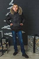 Куртка зимняя мужская черная (44-60)