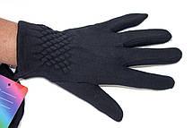 Женские стрейчевые перчатки Черные, фото 3
