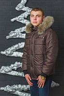 Куртка зимняя мужская коричневый(44-60)