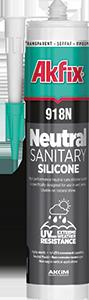 Силикон нейтральный санитарный Akfix 918N прозрачный 310мл (360 гр), фото 2