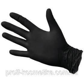 Перчатки нитриловые ЧЕРНЫЕ без пудры размер М 50 пар - . в Бердичеве