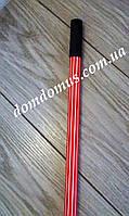 Кий металлический 120 см FSRNI (0,24-0,25 см) полосатый красный