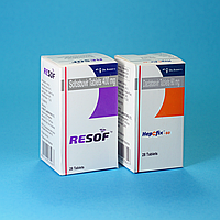 Ресоф+Хепцфикс Resof /HepCfix Софосбувир/даклатасвир 400/60 мг дженерик лицензионый