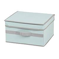 Коробка для хранения вещей с крышкой, голубая, 30*25*17 см, ТМ МД