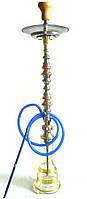 Кальян Khalil Mamoon 100 см Trimetal (Три металла) + Шланг новый высокий Синий