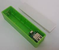 Пластиковый PowerBank на 1 аккумулятор 18650 (прямоугольный)