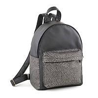 Рюкзак Fancy черный флай с серебряным узором
