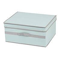 Коробка для хранения вещей с крышкой, голубая, 40*33*19 см, ТМ МД
