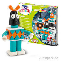 """Подарочный набор Фимо Fimo KIDS """"Робот"""", из особо мягкой глины для детей (Глина+стек+инструкция)  (Германия), фото 1"""