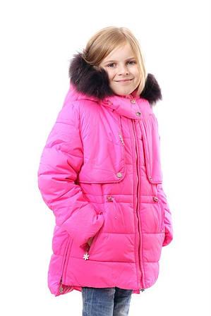 """Детская зимняя курточка для девочки """"Кокетка"""""""