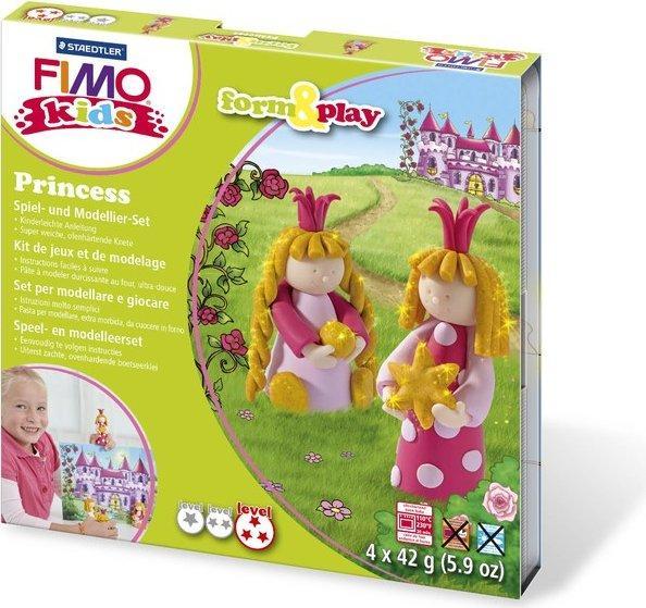"""Подарочный набор Фимо Fimo KIDS """"Принцесса"""" (Германия), мягкая глина для детей, 4шт.+стек+инструкция"""