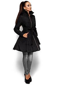 """Удлиненная женская куртка """"Сиена 4"""" с пышным низом"""