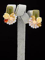 044945 Серьги 'Hand Made' Яшма  украшение с натуральным камнем