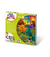 """НОВИНКА FIMO KIDS -Комплект """"Дино"""", состоящий из особо мягкой глины для детей Фимо Кидс, бруски 4шт.раз"""