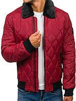 Мужская зимняя стёганая  куртка Бомбер